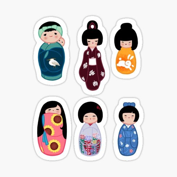 Kokeshi stickers 3 Sticker