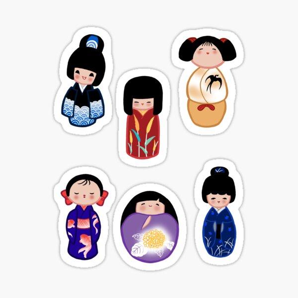 Kokeshi stickers 4 Sticker