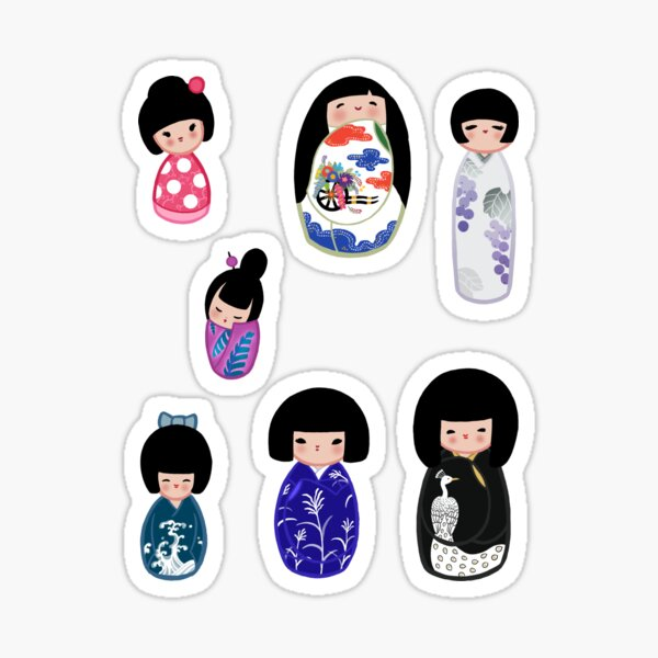 Kokeshi stickers 5 Sticker