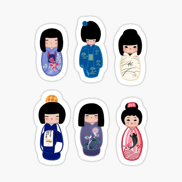 Kokeshi stickers 6 Sticker