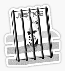 Innocent & behind bars Julian Assange Sticker