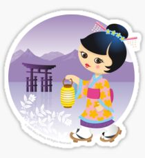 Japanese girl Sticker