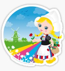 Dutch girl Sticker