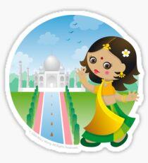 Indian girl Sticker
