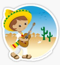 Mexican boy Sticker
