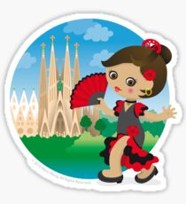 Spanish girl Sticker