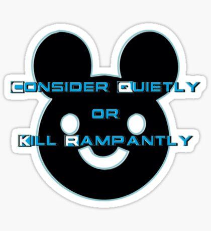 consider quietly - sticker Sticker