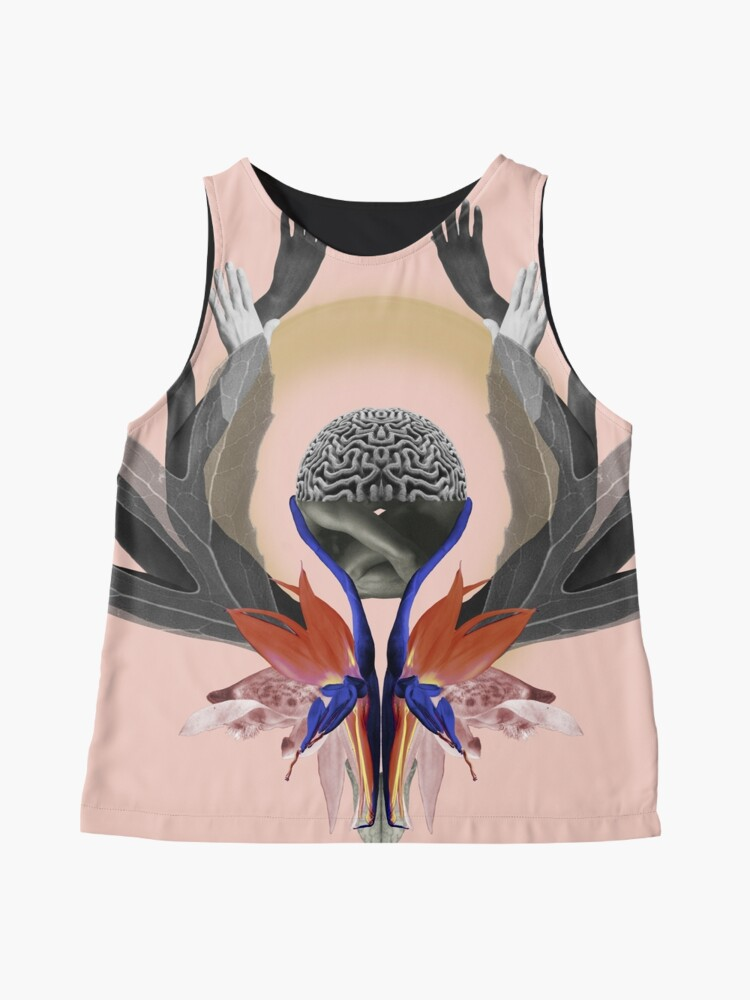 Alternate view of Freedom - Independence, flowers, fantasy, brain, light Sleeveless Top