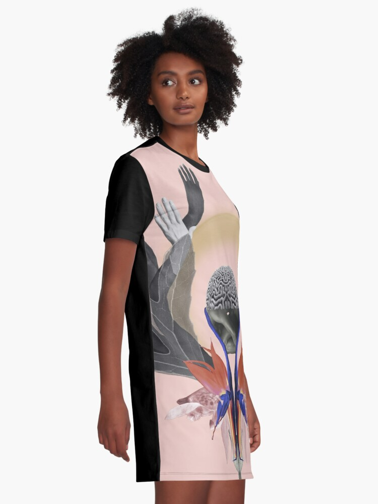 Alternate view of Freedom - Independence, flowers, fantasy, brain, light Graphic T-Shirt Dress