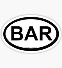BAR location sticker Sticker