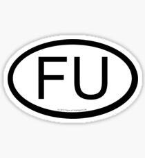 FU location sticker Sticker