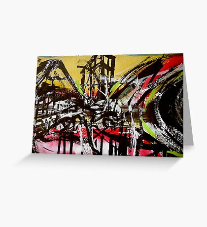dream view.... back landscape Greeting Card