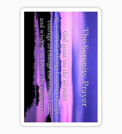 4inch sticker of scenic serenity prayer  Sticker