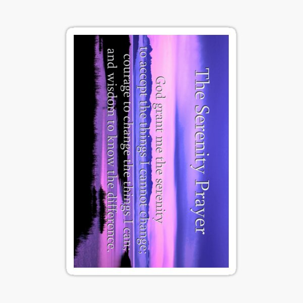4inch sticker of scenic serenity prayer  Sticker