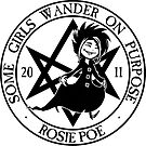 Rosie Poe: Some Girls Wander on Purpose Sticker by AlyFell