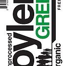 Contents: Unprocessed Soylent Green (STICKER) by Captain RibMan