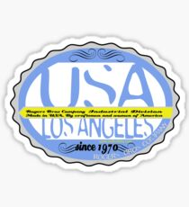 usa los angeles sticker by rogers bros co Sticker