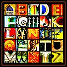 Savannah Alphabet - Bright, square by Ellen  Hagan