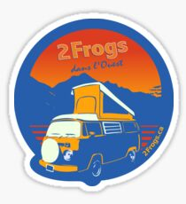 2Frogs Français BLEU Sticker