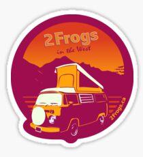 2 Frogs English MAGENTA Sticker