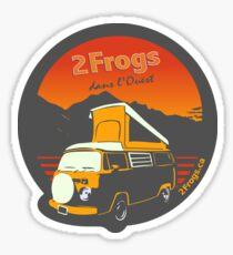 2 Frogs Français GRIS FONCÉ Sticker