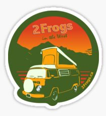 2 Frogs English GREEN Sticker