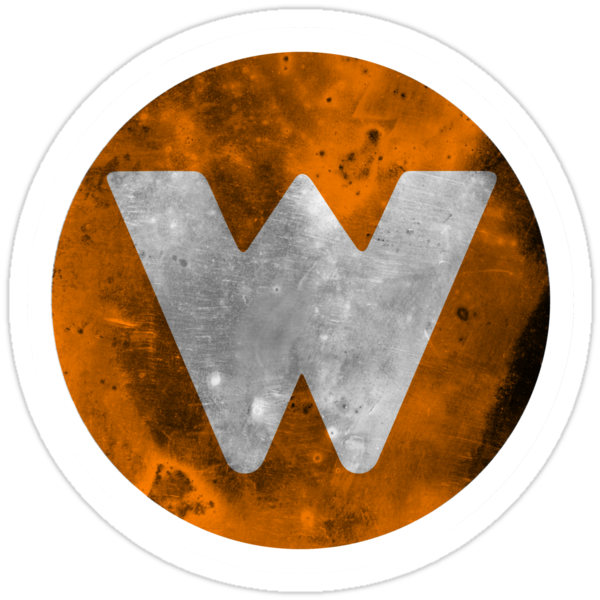 Wrongtown W Logo - Orange Distressed by houseAU