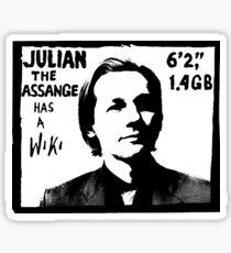 Julian Assange has a Wiki Sticker