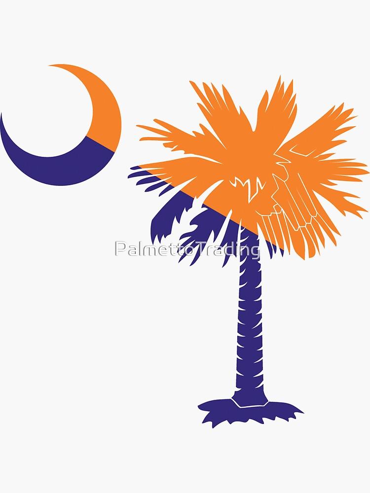 Orange and Purple Palmetto Moon by PalmettoTrading