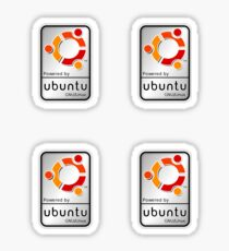 Powered by Ubutnu x 4 Sticker