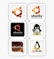 Ubuntu 6 Sticker Set Sticker