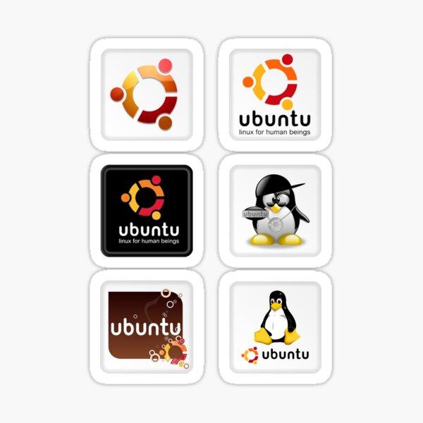 Juego de pegatinas Ubuntu 6 Pegatina