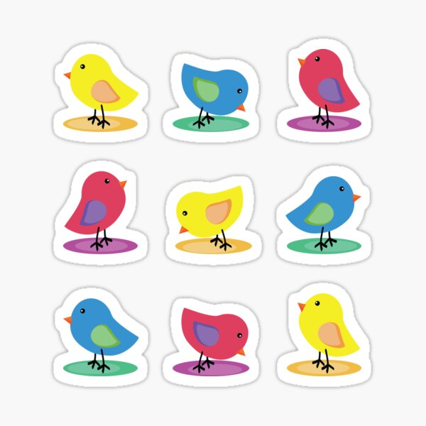 chicks Sticker