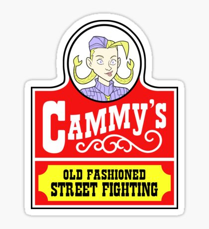 Cammy's Old Fashioned Street Fighting STICKER Sticker