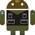 Droidarmy: Teal'c SG-1 sticker by Nana Leonti