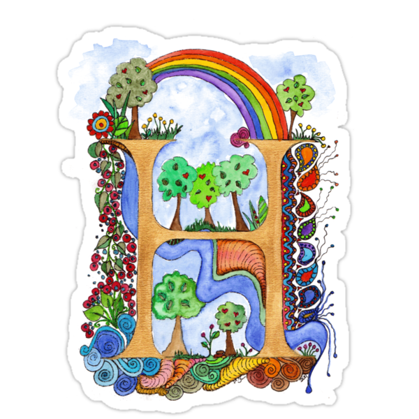 H - an illuminated letter by wiccked