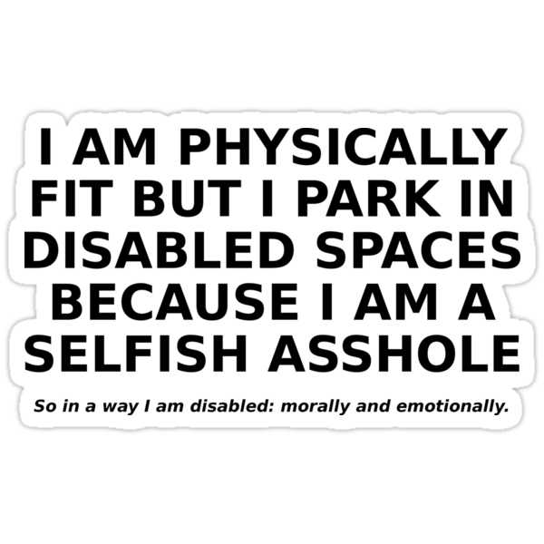 'Abled but Selfish' Sticker by bachelorshall