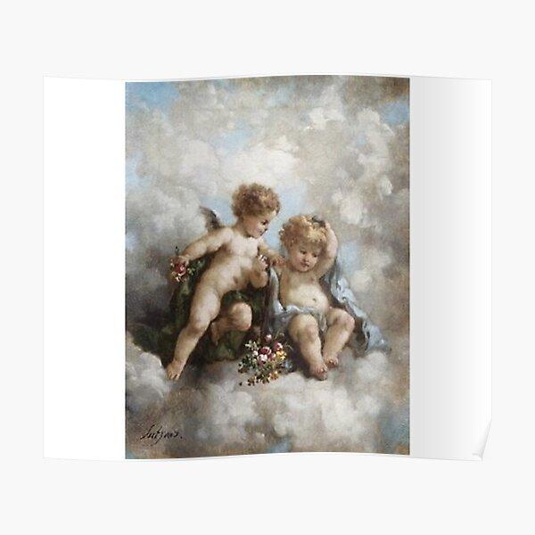 angel cherub renaissance aesthetic Poster