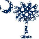 Blue Polka Dots Palmetto Moon by PalmettoTrading