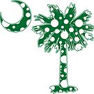 Green Polka Dots Palmetto Moon by PalmettoTrading