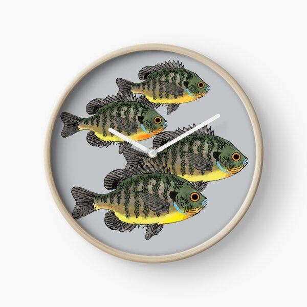 Bluegill Sunfish School Clock
