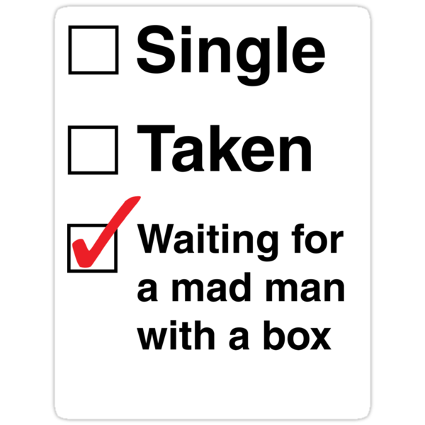 SINGLE TAKEN MAD MAN WITH A BOX STICKER by thischarmingfan