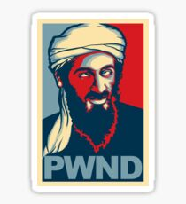 PWND - OSAMA STICKER Sticker