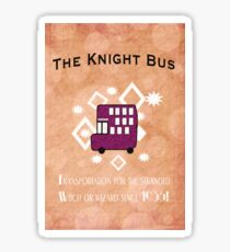 Hitch A Ride on the Knight Bus! Sticker