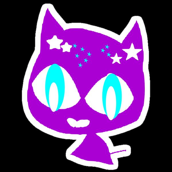 Purple kitten  by cheeckymonkey