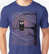 Daymare - Spooky creepy Halloween owl on branch spiral art tia knight  Unisex T-Shirt
