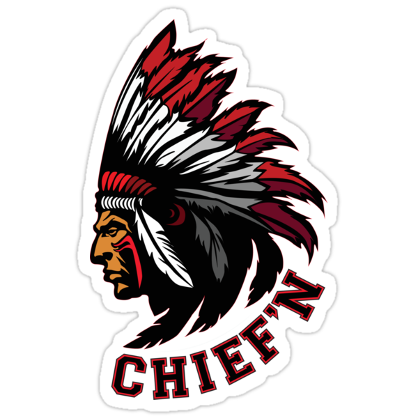 Chief'n - in sticker form! by nativeclothing
