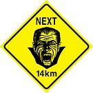 Vampires Next 14km by Jacqueline Gwynne