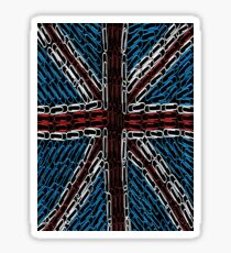 The Union Jack of Paper Clips Sticker