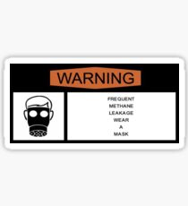 Methane Warning Sticker